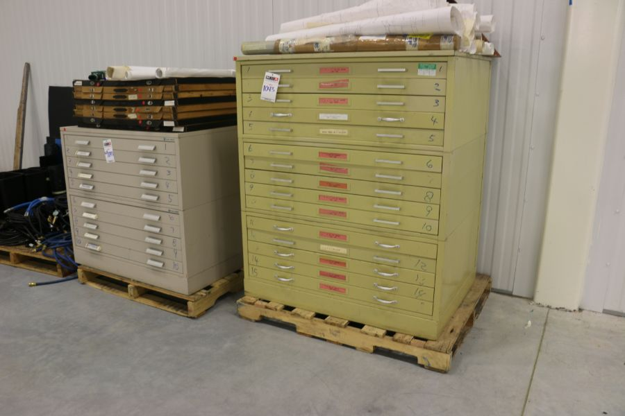 Lot 1043 - Assorted 5 Drawer Cabinets