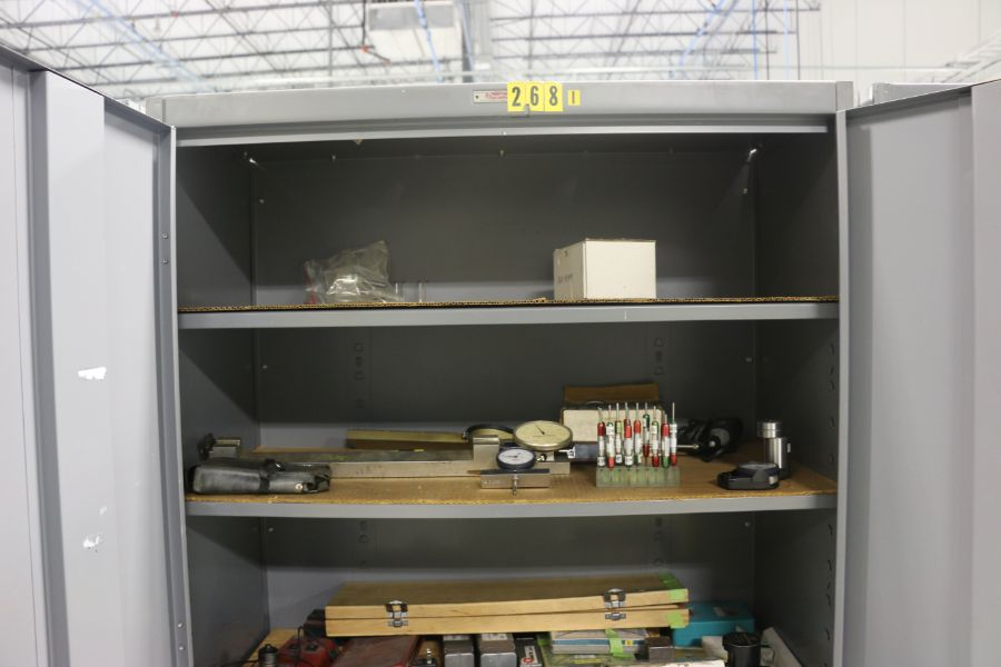 Lot 1042 - 2 Door Cabinets with Content