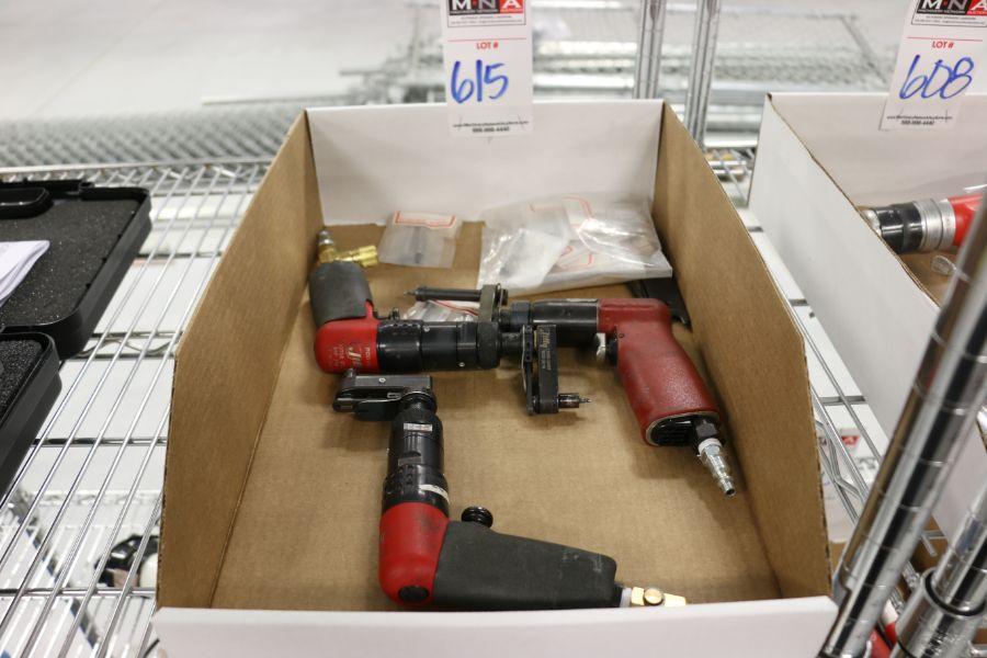 Lot 615 - Assorted Pneumatic Hi-Lok Fastner Gun