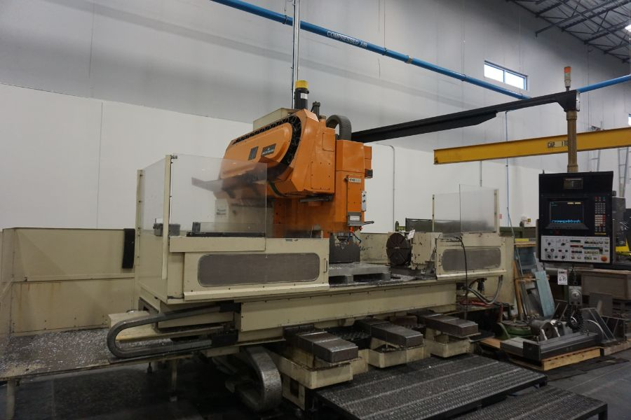 """Makino FNC-208 4-Axis VMC, Fanuc 6M Control, 32"""" x 98"""", 3200 rpm, 30 ATC, CT50, s/n 81 with 16"""" - Image 6 of 16"""