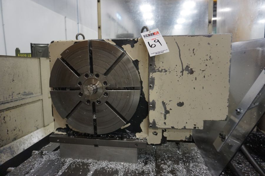 """Makino FNC-208 4-Axis VMC, Fanuc 6M Control, 32"""" x 98"""", 3200 rpm, 30 ATC, CT50, s/n 81 with 16"""" - Image 14 of 16"""