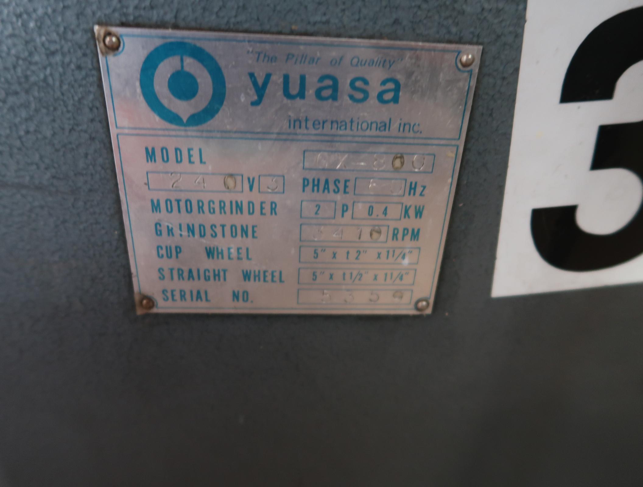 YUASA TOOL ROOM GRINDER MDL GX-800 SN. 5359 - Image 2 of 4