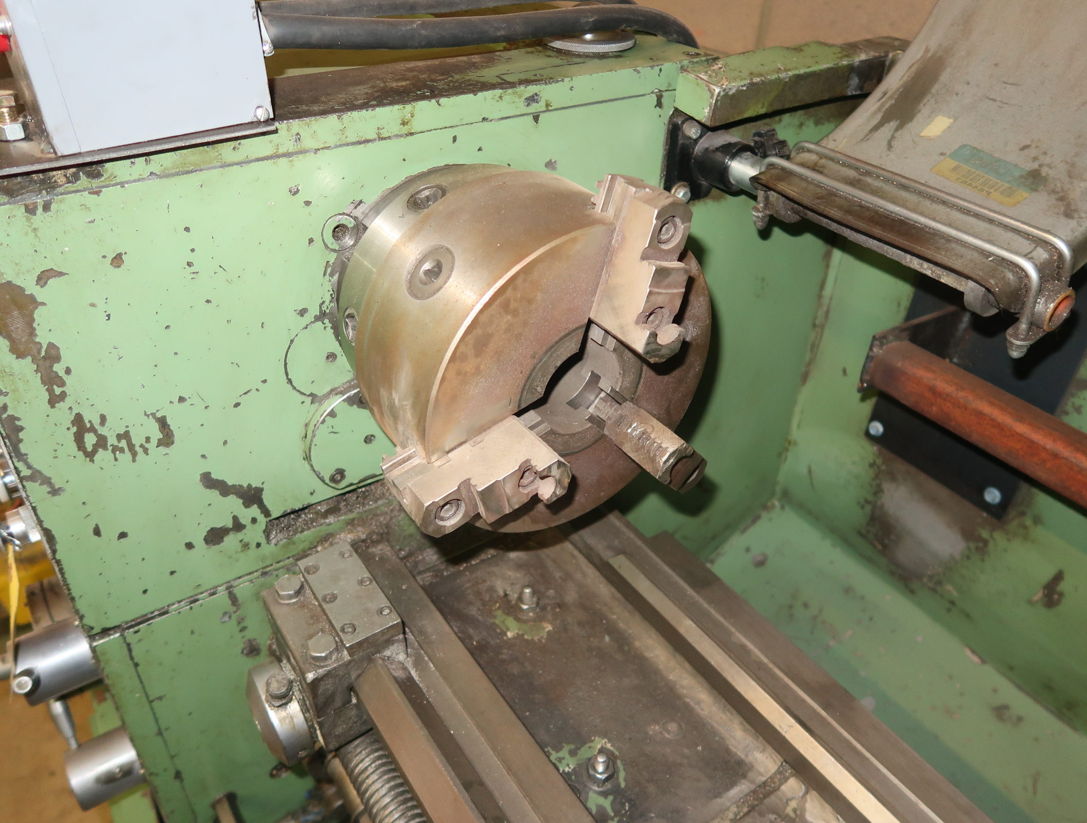 NARDINI-ND 1560E GAP BED ENGINE LATHE W/3-JAW CHUCK, QUICK CHANGE TOOLPOST W/3-HOLDERS, 5C COLLET - Image 3 of 6