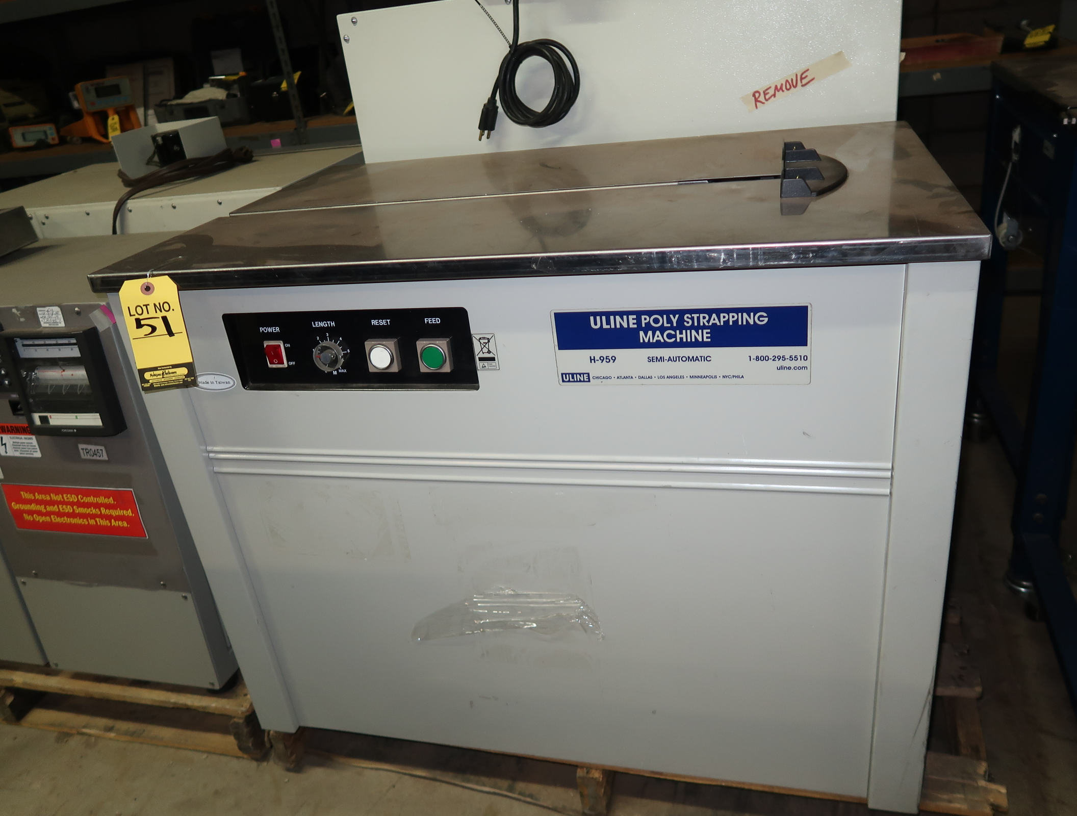 ULINE POLY STRAPPING MACHINE MDL. H-959