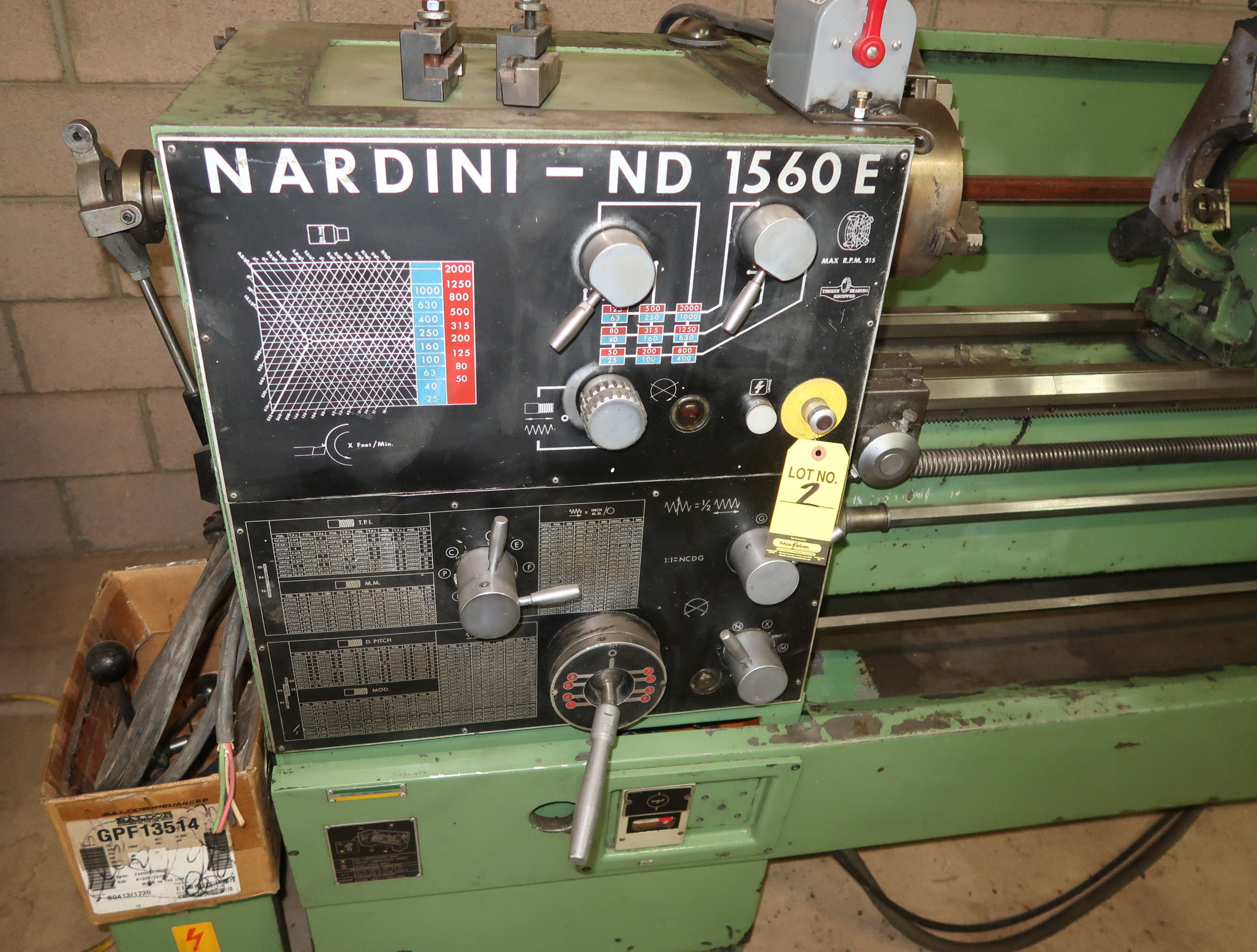NARDINI-ND 1560E GAP BED ENGINE LATHE W/3-JAW CHUCK, QUICK CHANGE TOOLPOST W/3-HOLDERS, 5C COLLET - Image 4 of 6