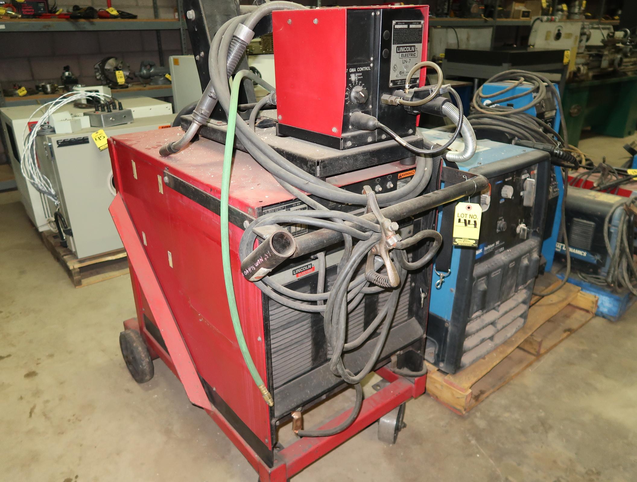 LINCOLN ELECTRIC CV-400 W/ LN-7 GMA CONTROL WIRE FEEDER SN. U1010100917