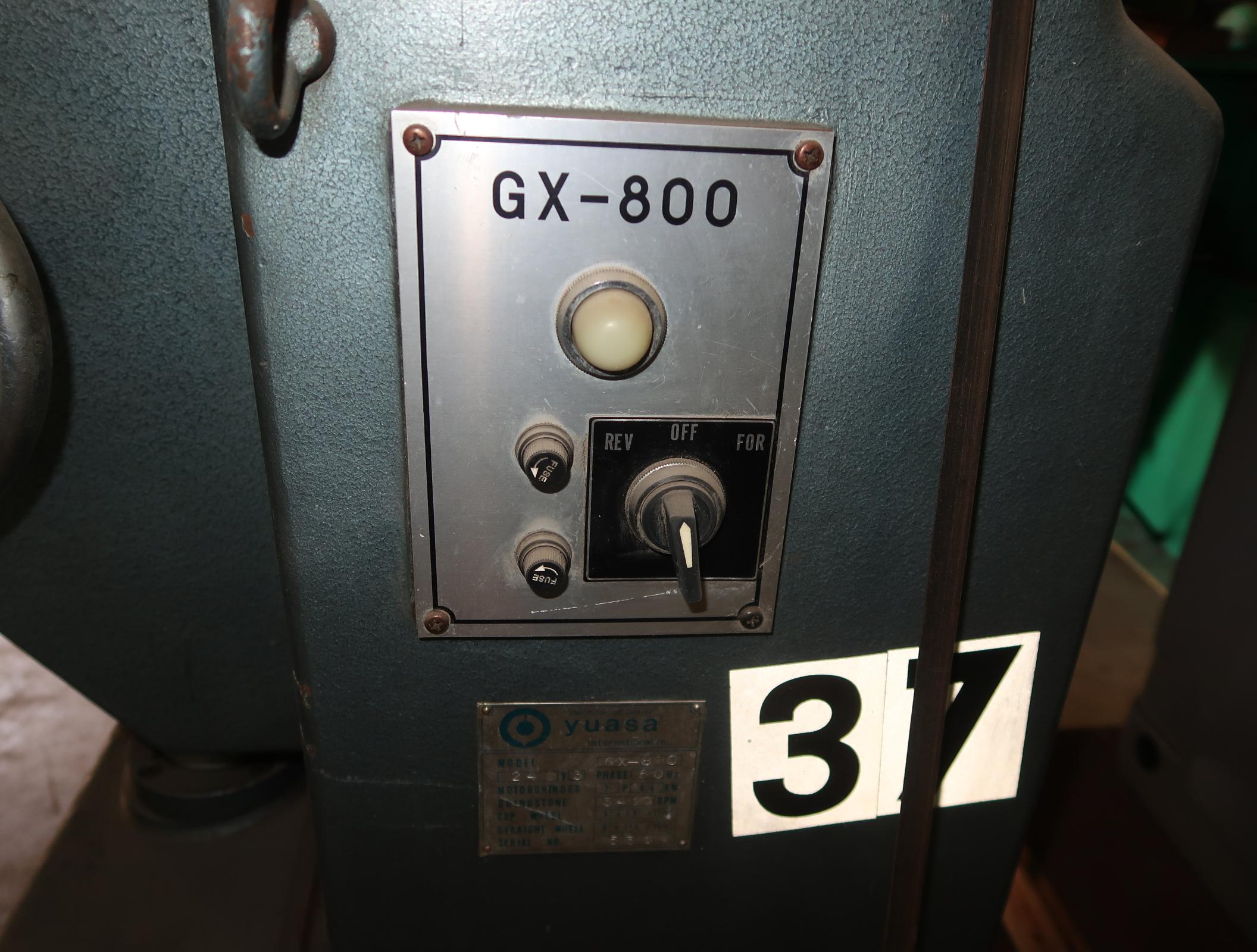 YUASA TOOL ROOM GRINDER MDL GX-800 SN. 5359 - Image 3 of 4