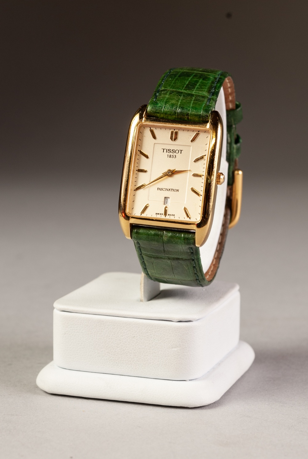 Lot 8 - LIPSILVA GOLD PLATED CASED GENTLEMAN'S WRISTWATCH on leather strap together with a TISSOT 1853