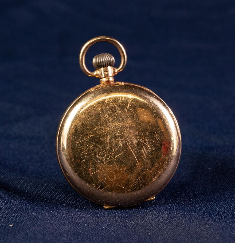 Lot 11 - 20th CENTURY SMITHS 9ct GOLD CASED OPEN FACE KEYLESS GENTLEMAN'S POCKET WATCH, hallmarked Birmingham