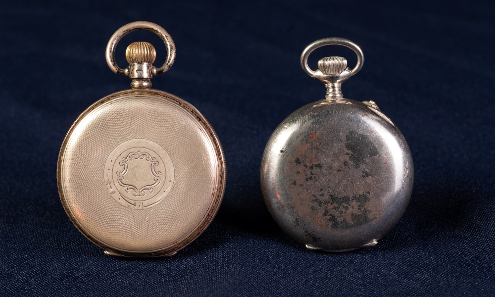 Lot 2 - SILVER OPEN FACED POCKET WATCH, 'Kay's Keyless Triumph', white Roman dial with subsidiary seconds