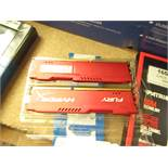 HyperX HX316C10FRK2/16 Fury Red 16GB (2x8GB) Memory, DDR3,1600MHz, CL10, 240-pin UDIMM, untested and