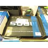 EVGA 600 Watt 80 PLUS Wired ATX PSU/Power Supply Black, untested and boxed. RRP £50.00