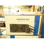 NZXT Kraken X62 Processor liquid cooling system, untested and boxed. RRP £200.40