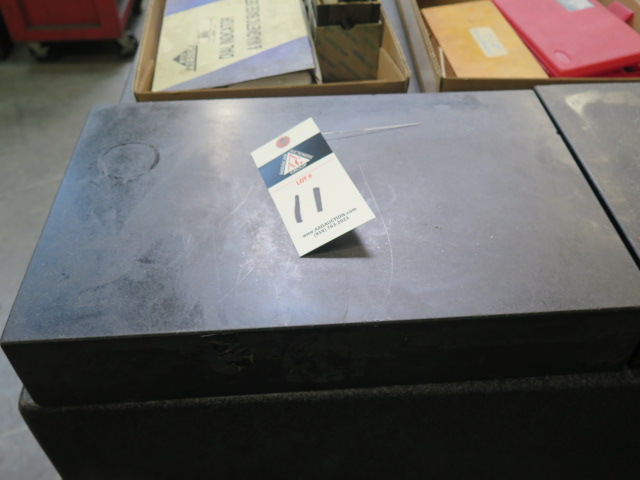 "Lot 11 - 12"" x 18"" x 3"" Granite Surface Plate"