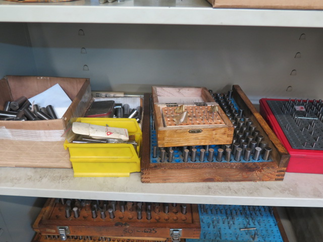 Lot 12B - Storage Cabinet w/ Pin Gages and Misc