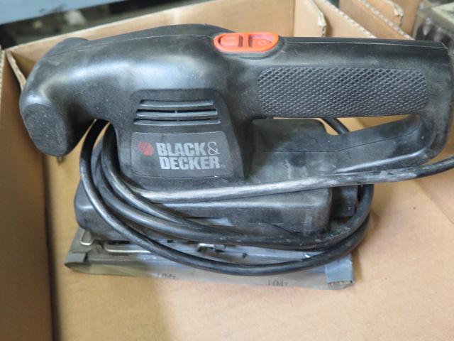 Lot 15 - DeWalt Electric Drill and Black & Decker Pad Sander
