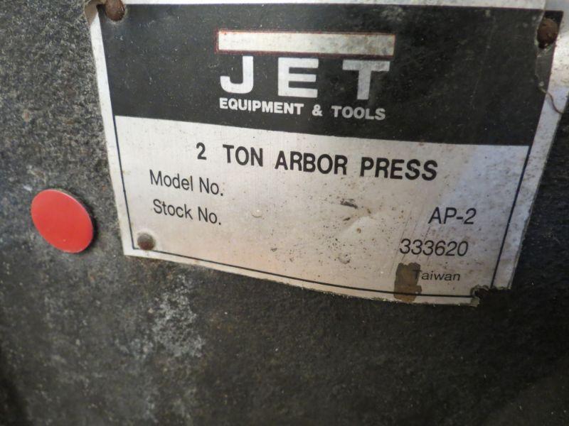 Lot 43 - JET AP-2 2 Ton Arbor Press, s/n 333620