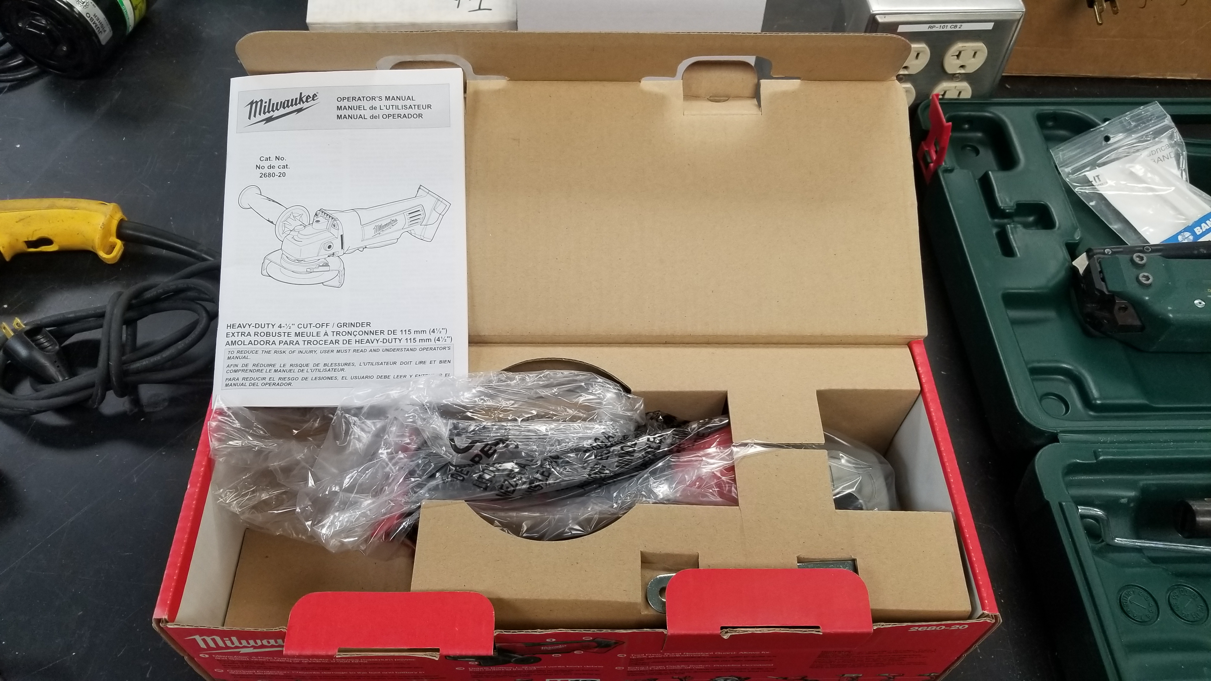 "Lot 4A - Milwaukee 4.5"" Cut Off / Angle Grinder Model Number Is 2680-20 Note Tool Only, Unused In Box"