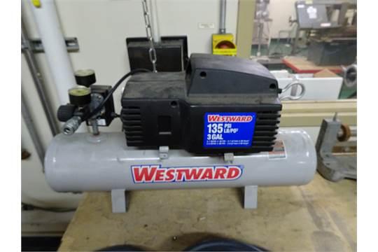 1) Westward Model 3JR70-1, 135 psi, 3 Gallon Capacity Air