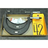 """Starret No. 486 3-4"""", 4-5"""" Outside Blade Micrometers"""