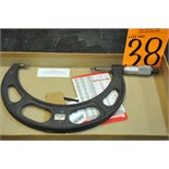 """Starret No. 486 5-6"""" Outside Blade Micrometer"""