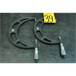 """Starret No. 486 5-6"""", 7-8"""" Outside Blade Micrometers"""