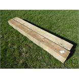 2 x 200mmx200mm tanalised wooden gate posts
