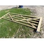 5-bar tanalised wooden gate, 3.3m