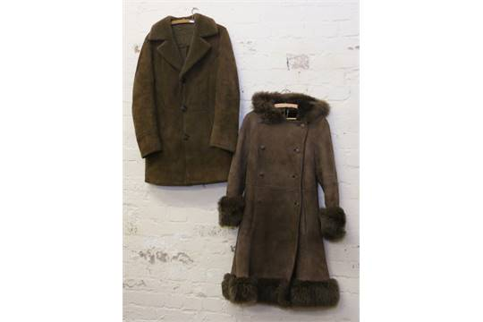 A ladies sheepskin coat by Baileys of Glastonbury, size 16 along ...