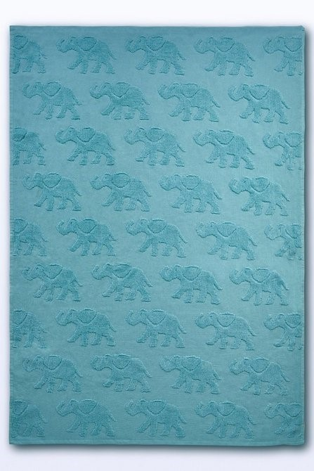 Lot 178 - 1 BAGGED ELEPHANT EMBOSSED BATH TOWEL IN DUCK EGG (PUBLIC VIEWING AVAILABLE)