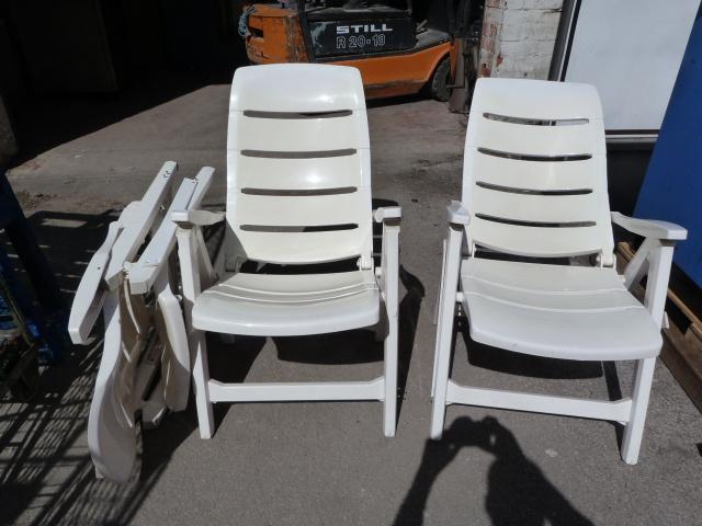 Lot 26 - Three Folding Plastic Garden Chairs