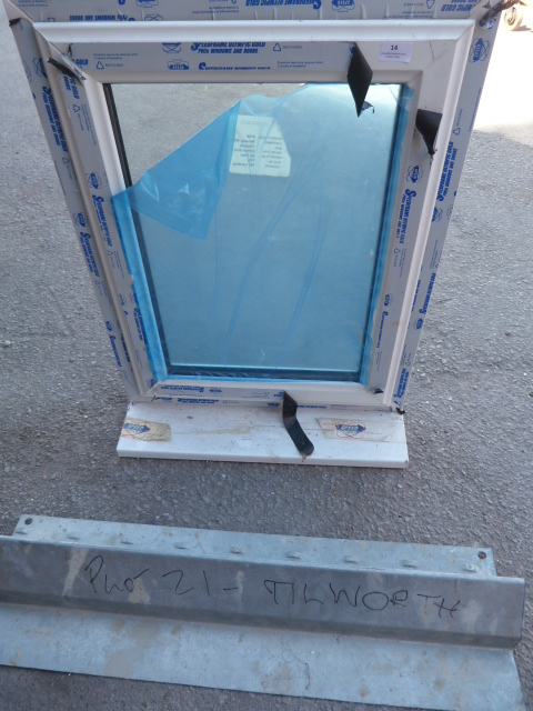 Lot 14 - Double Glazed Window in PVC Frame 61x80cm