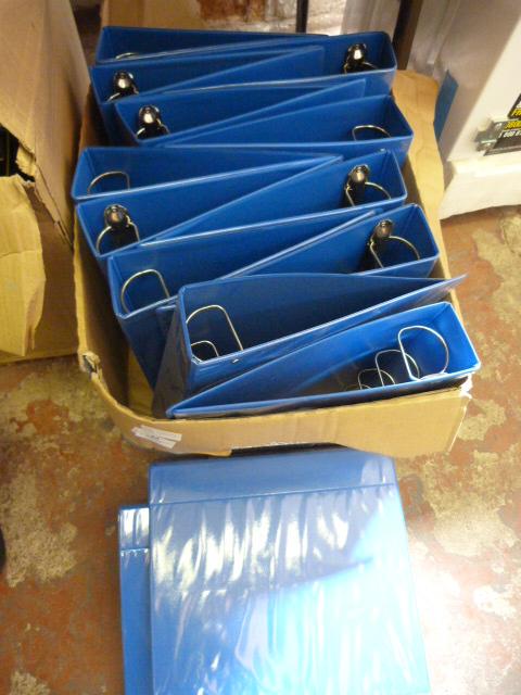Lot 52 - Box of Fourteen Blue Ring Binders