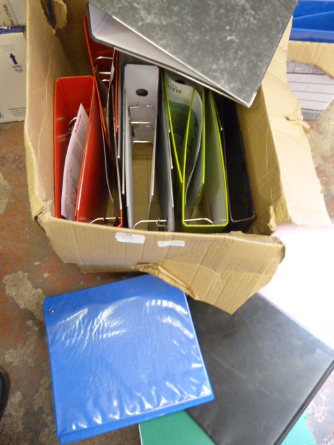 Lot 53 - Box of Assorted Ring Binders