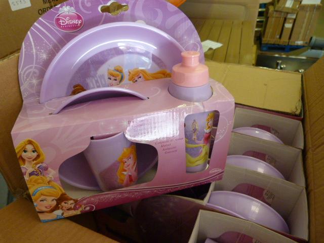 Lot 59 - *Box of 12 Disney Four Piece Princess Sets