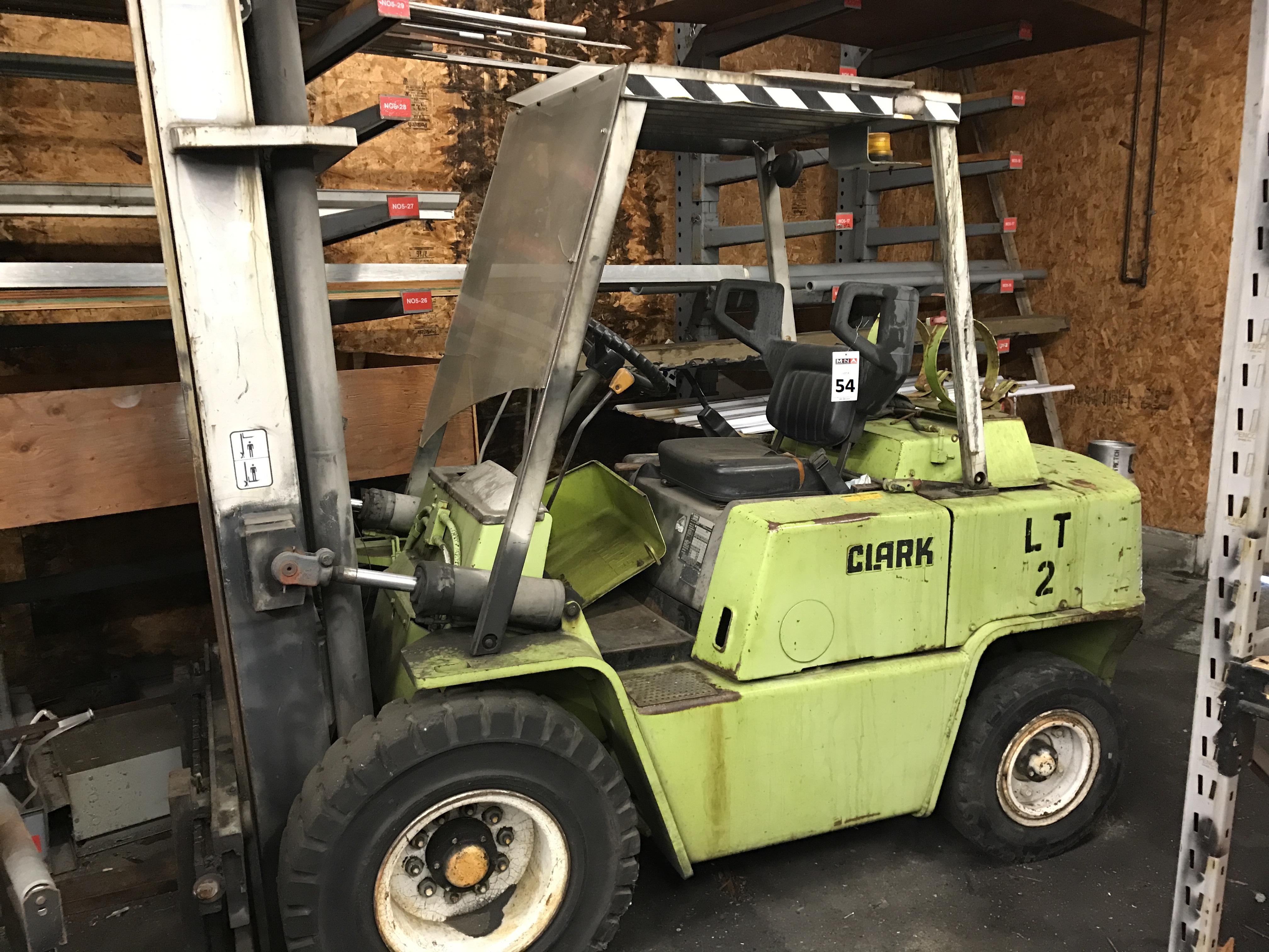 Clark C500-ys80 Forklift Truck  7425 Lb Capacity  S  N Y685-0250-5960fa