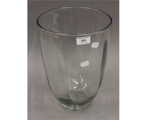 A Whitefriars glass vase. 31.5 cm high.