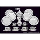 Konv. Rosenthal Porzellan, 33 Teile, Rosenthal classic, Pearl-China, Serie Grace, Dekor Society alt,