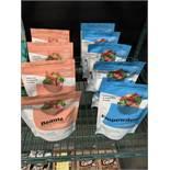 Lot de (13) sacs et (3) petites boites de Fruits et prod chocolats