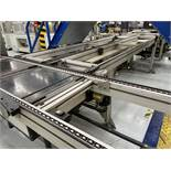 Chain conveyor with a width of 0.55 m and a height of 0.82 m, with a length of approximately 44 m.