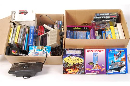 A good collection of assorted vintage Atari and Atari ST boxed games