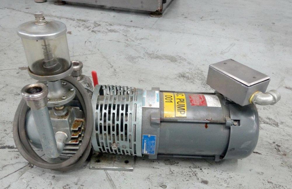 Gast Vacuum Pump Model 2567 V1 Driven By A 1hp Motor