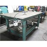 """48"""" x 70"""" Steel Soldering Table w/ (2) Propane Tanks and (1) Soldering Wand (SOLD AS-IS - NO"""