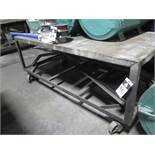 """37"""" x 73"""" Rolling Table (SOLD AS-IS - NO WARRANTY)"""