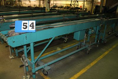 Lot 54 - MCCAIN SADDLESTICH BUNDLE FEEDERS, 10' FEEDER EA W/ RUBBER ROLL TOP CONVEYOR, 1997