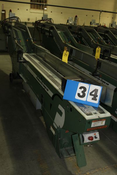 Lot 34 - FAEUILTAULT MDL 3000 SB MAGAZINE FEEDER, 16' L FEEDER W/ STAINLESS STEEL ROLL TOP CONVEYOR &