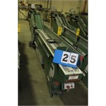 Lot 25 - FAEUILTAULT MDL 3000 SB MAGAZINE FEEDER, 16' L FEEDER W/ STAINLESS STEEL ROLL TOP CONVEYOR &