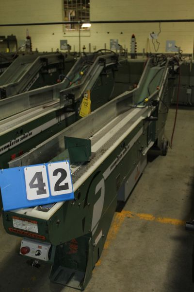 Lot 42 - FAEUILTAULT MDL 3000 SB MAGAZINE FEEDER, 16' L FEEDER W/ STAINLESS STEEL ROLL TOP CONVEYOR &