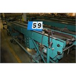 Lot 59 - MCCAIN SADDLESTICH BUNDLE FEEDERS, 10' FEEDER EA W/ RUBBER ROLL TOP CONVEYOR, 1997
