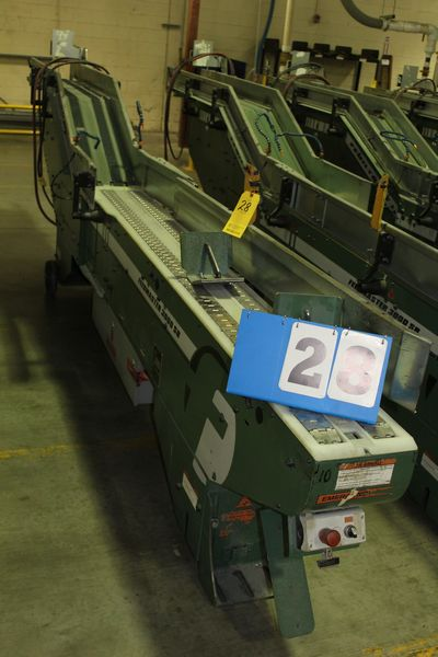 Lot 28 - FAEUILTAULT MDL 3000 SB MAGAZINE FEEDER, 16' L FEEDER W/ STAINLESS STEEL ROLL TOP CONVEYOR &